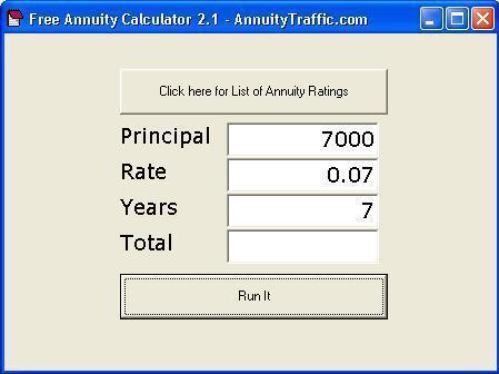 Free Annuity Calculator AnnuityTraffic.com